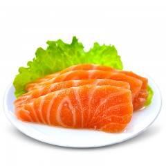 三顿饭进口冰鲜三文鱼刺身中段新鲜三文鱼净肉即食生鱼片生吃海鲜 当天现杀 净肉400g 默认不发皮